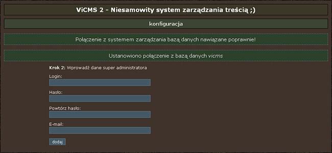 Formularz ustawienia danych super administratora